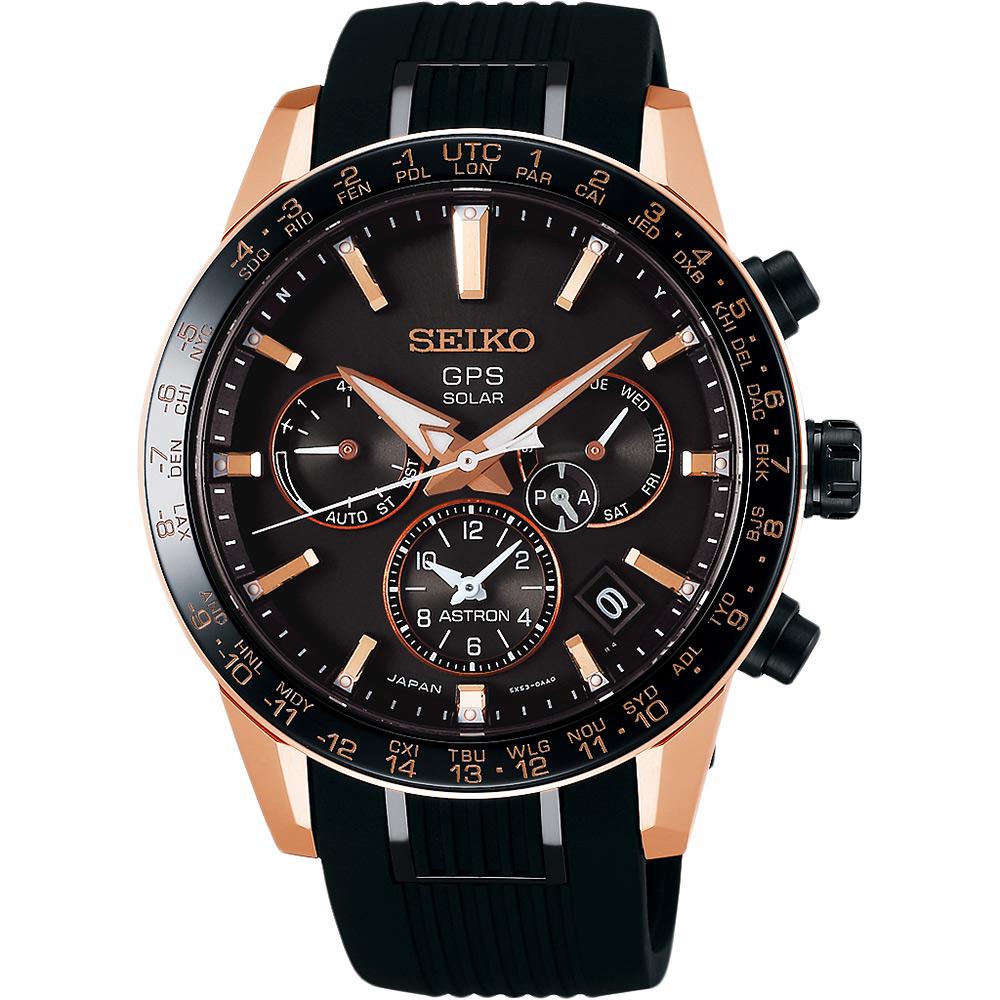 SEIKO精工 Astron 5X53 雙時區 鈦金屬GPS衛星定位錶(SSH006J1)