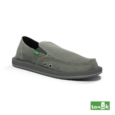 SANUK 素面帆布懶人鞋-男款(灰色)