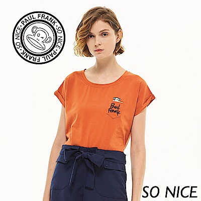 SO NICEXPaul Frank俏麗反褶袖上衣