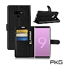 PKG 三星Note9 側翻式-精選皮套-經典款式-黑