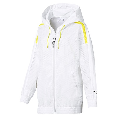 PUMA-女性流行系列Chase網布風衣外套-白色-歐規
