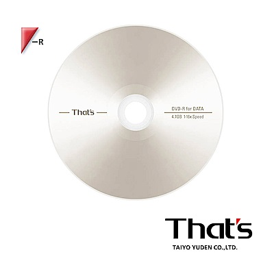 That's 太陽誘電 16X DVD-R 100片裸裝