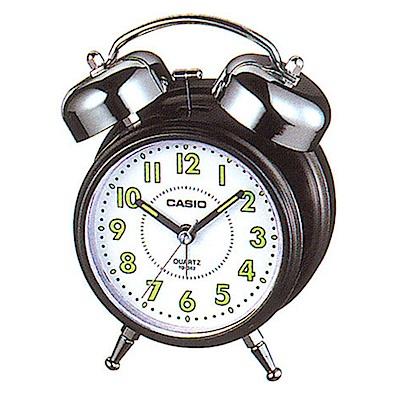 CASIO 指針雙響螢光標示音鬧鐘 (TQ-362-1B)-白面