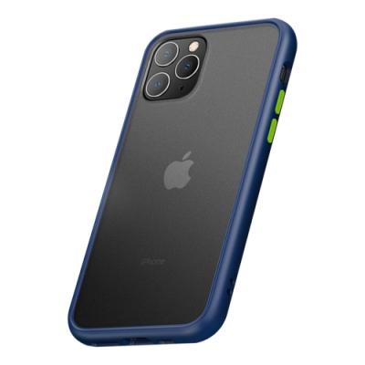 【TOYSELECT】iPhone 11 Pro Max火星盾減震矽膠防摔手機殼:藍綠撞色