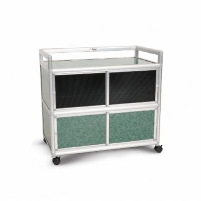 Cabini小飛象-花崗綠3.0尺鋁合金紗門收納櫃88.5x50.8x83.6cm