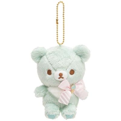 懶妹蜂蜜小熊快樂冰淇淋系列毛絨公仔吊飾。蜂蜜小熊San-X
