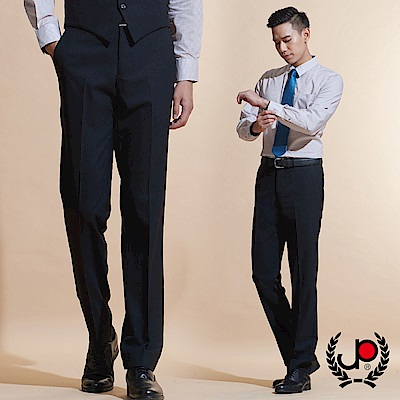 極品西服 品味暗紋緹花毛料平面西褲_黑色(BW601-<b>1</b>)