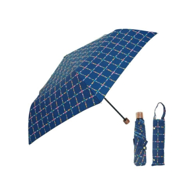 日本Prairiedog 晴雨兩用抗UV摺疊收納傘+多功能收納傘袋-深海藍
