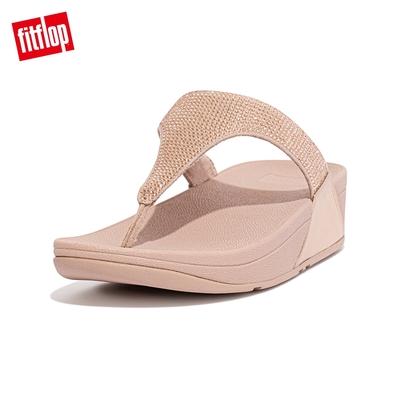 【FitFlop】LULU CRYSTAL EMBELLISHED TOE-POST SANDALS 經典水鑽夾腳涼鞋-女(玫瑰金)