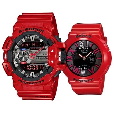 G-SHOCK MIX玩酷生活音樂控制藍芽錶/BABY-G霓虹繽紛夜光羅馬簡約休閒