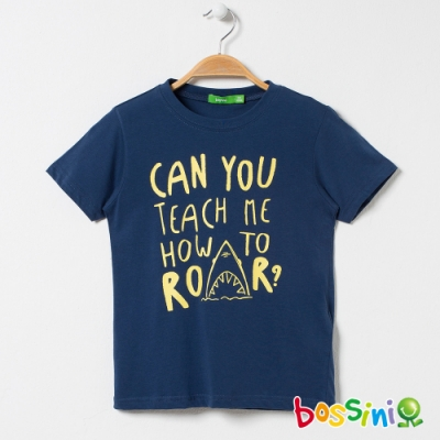 bossini男童-印花短袖T恤20綠松色