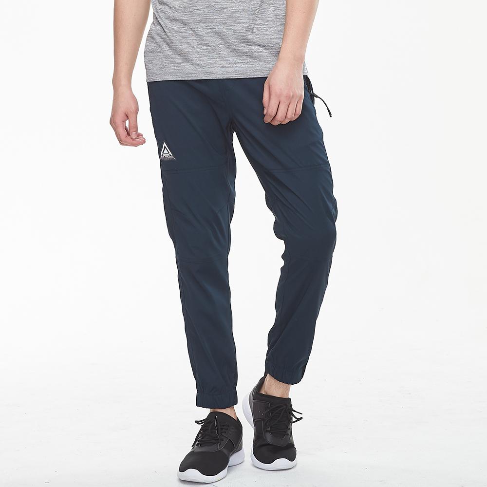 bossini男裝-休閒彈性束口褲01暗藍色