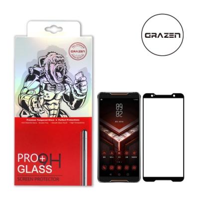 【格森GRAZEN】華碩 ROG PHONE/ZS600KL全膠滿版(黑)鋼化玻璃