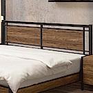 文創集 貝頓時尚5尺木紋雙人床頭片(不含床底)-153.6x4.5x96cm免組