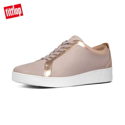 FitFlop RALLY LEATHER SNEAKERS休閒鞋-女(貂褐色/玫瑰粉)