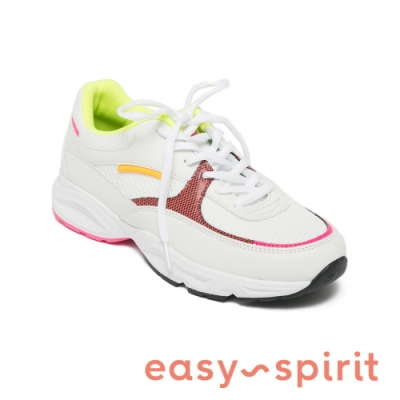 Easy Spirit-seGALAXIE3 復古綁帶休閒運動鞋-繽紛白