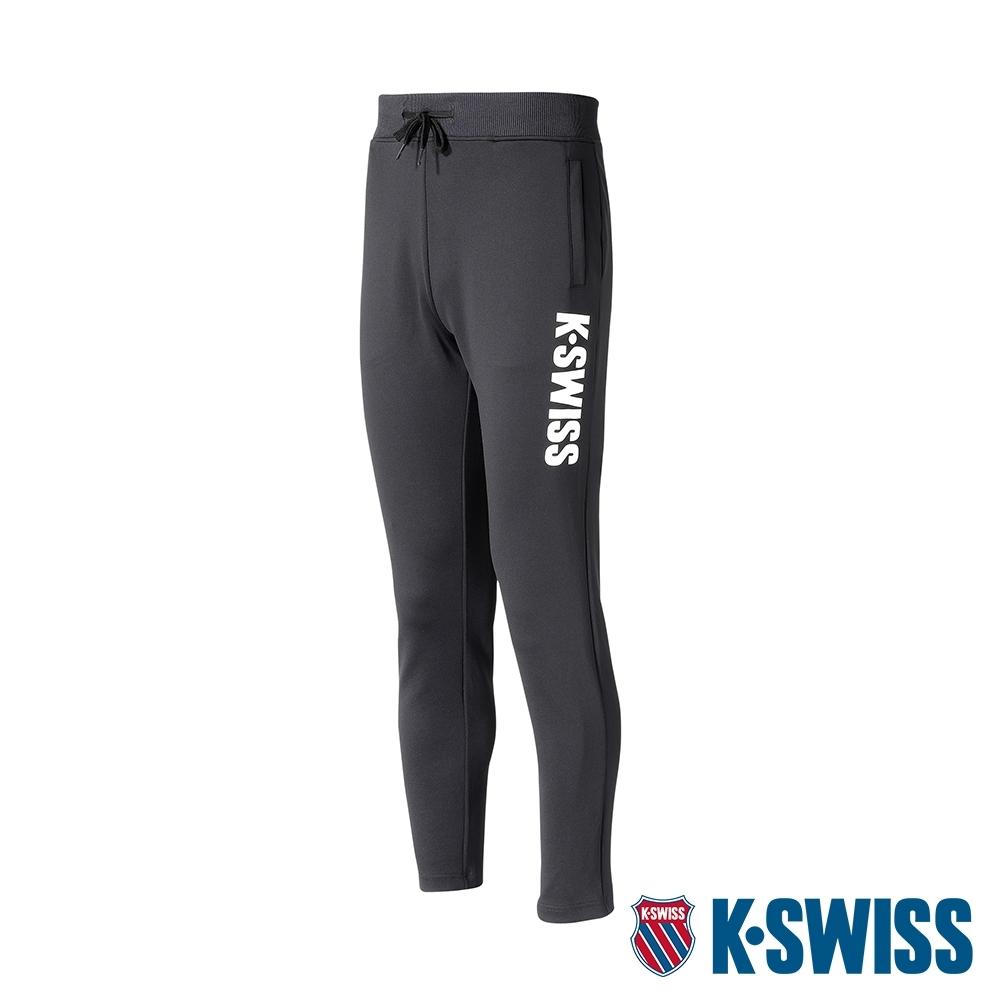 K-SWISS KS Logo Flat Pants運動長褲-女-黑