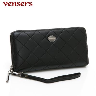 【vensers】小羊皮潮流皮夾~(TA0600701黑色長夾)
