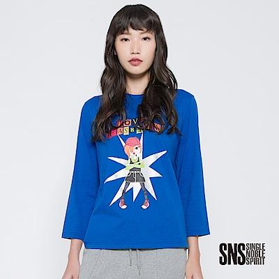 SNS 街頭女子燙印字母圖騰上衣(2色)