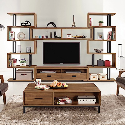 AS-麥爾森10尺組合電視櫃-310x35x197cm