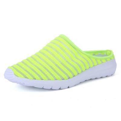 韓國KW美鞋館-橫式線條休閒輕量鞋 螢光綠
