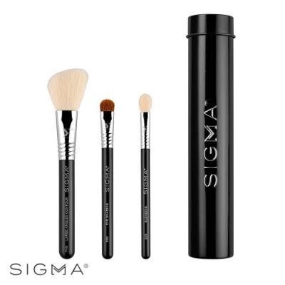 Sigma 基本旅行刷具3件組(含刷具罐)-黑色 Essential Trio Brush Set