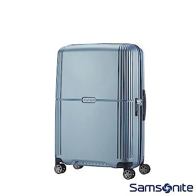 Samsonite新秀麗 20吋Orfeo 簡約方正線條PC嵌入式TSA海關鎖登機箱(銀藍
