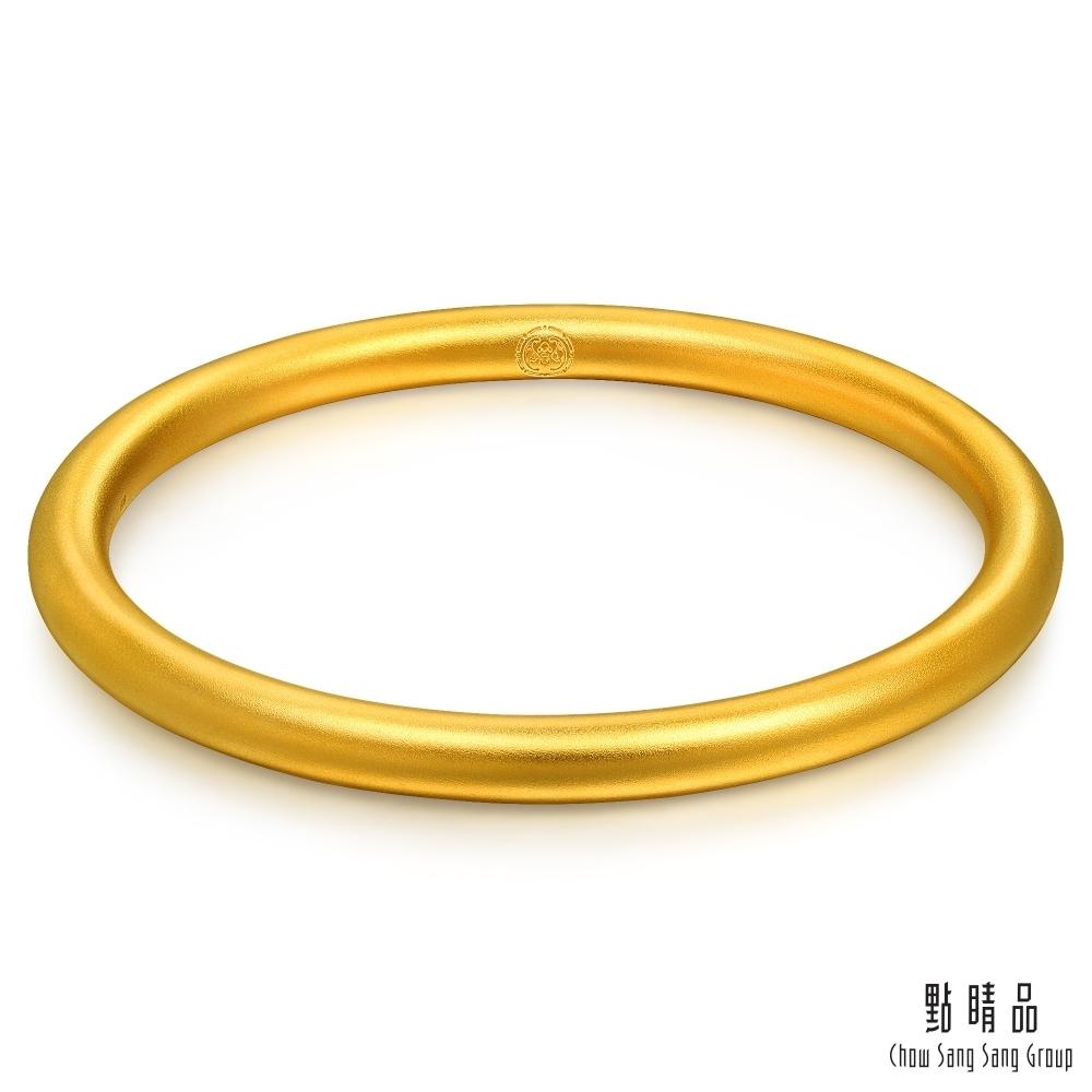 【點睛品】足金9999 祝福圓滿黃金手鐲_計價黃金