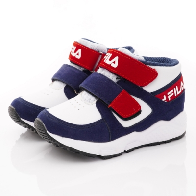 FILA頂級童鞋 高足弓護踝機能運動鞋 EI26T-123藍白紅(中小童段)