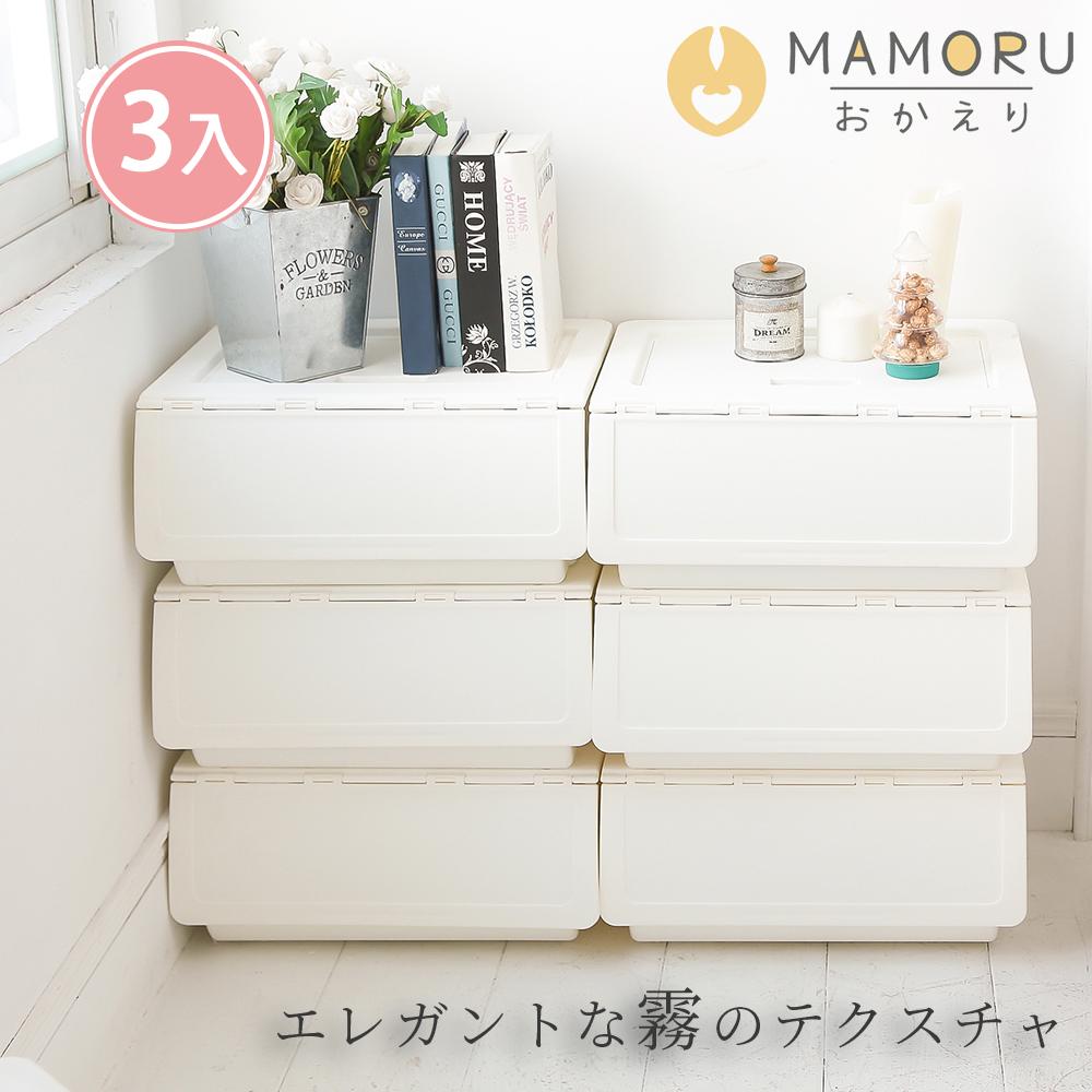 好購家居 日本亞馬遜暢銷大容量可堆疊掀蓋收納箱 52L(3入)