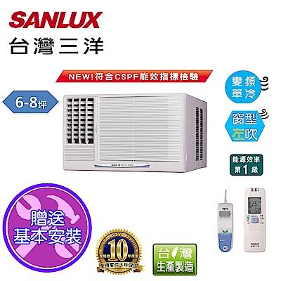 台灣三洋SANLUX 6-8坪窗型變頻左吹式SA-L41VE1
