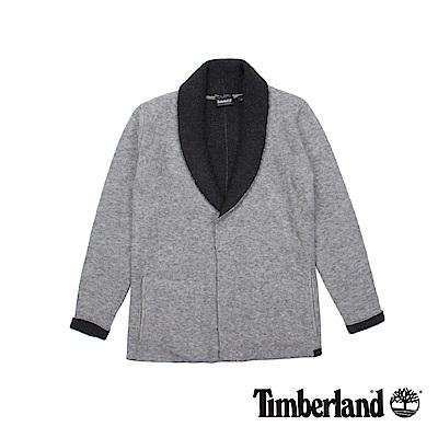 Timberland 女款中灰色Taylors Rvr 毛圈刷毛開襟衫