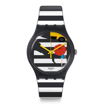 Swatch New Gent 原創系列手錶 CROSS THE PATH 斑馬線-41mm
