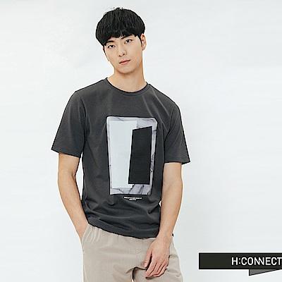 H:CONNECT 韓國品牌 男裝-圖像印字T-shirt-灰