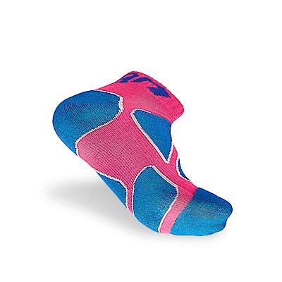 【Titan】太肯功能慢跑襪2_桃紅/藍色_3雙 (適合馬拉松、健走、慢跑)