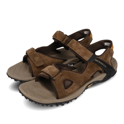 Merrell 涼拖鞋 Kahuna 4 Strap 運動 男鞋 戶外 透氣 麂皮 避震 耐磨 黃金大底 棕 黑 ML033667