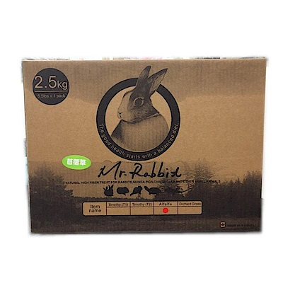 Mr.Rabbit瑞比兔先生 高級苜蓿草 2.5KG 三入組