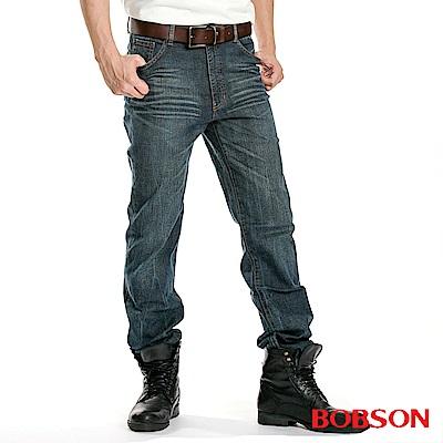 BOBSON 男款伸縮直筒褲