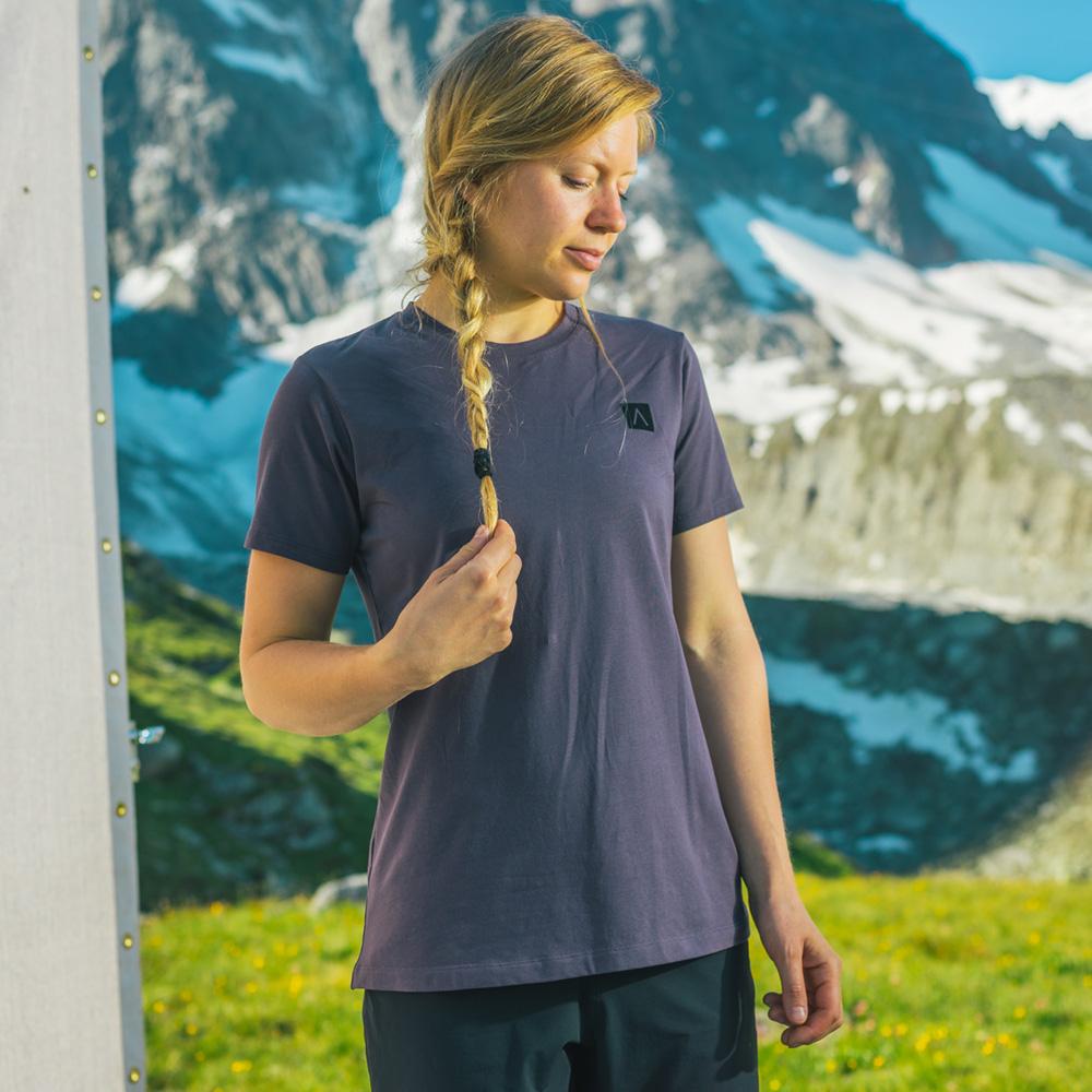 Arcteryx 始祖鳥 24系列 女 A Squared 有機棉 短袖休閒Tee 紫