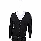 ARMANI COLLEZIONI 純羊毛V領黑色開襟針織衫