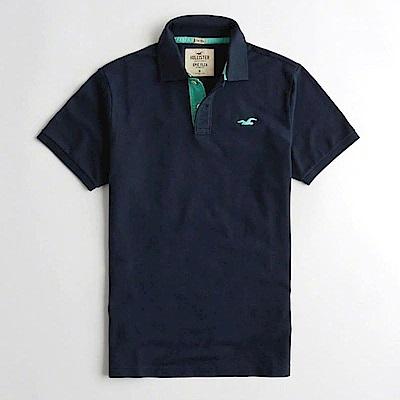 Hollister HCO  短袖 polo 藍色 0913