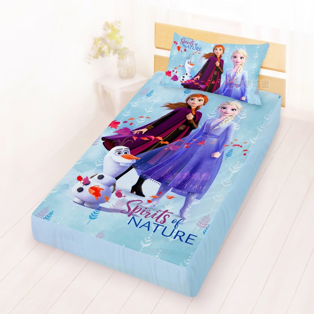 享夢城堡 單人床包枕套3.5x6.2二件組-迪士尼史迪奇米奇唐老鴨奇奇蒂蒂冰雪奇緣任選 product image 1