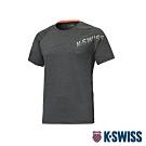 K-SWISS HS Round Shirt韓版排汗T恤-男-灰