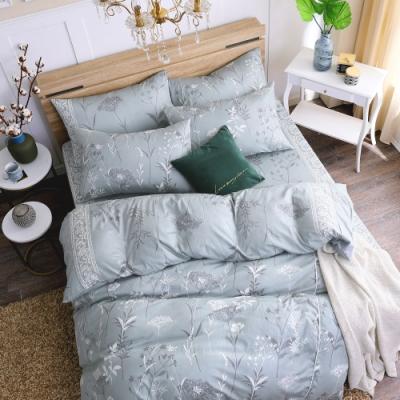 鴻宇 100%精梳棉 艾米堤 灰 雙人加大四件式兩用被床包組