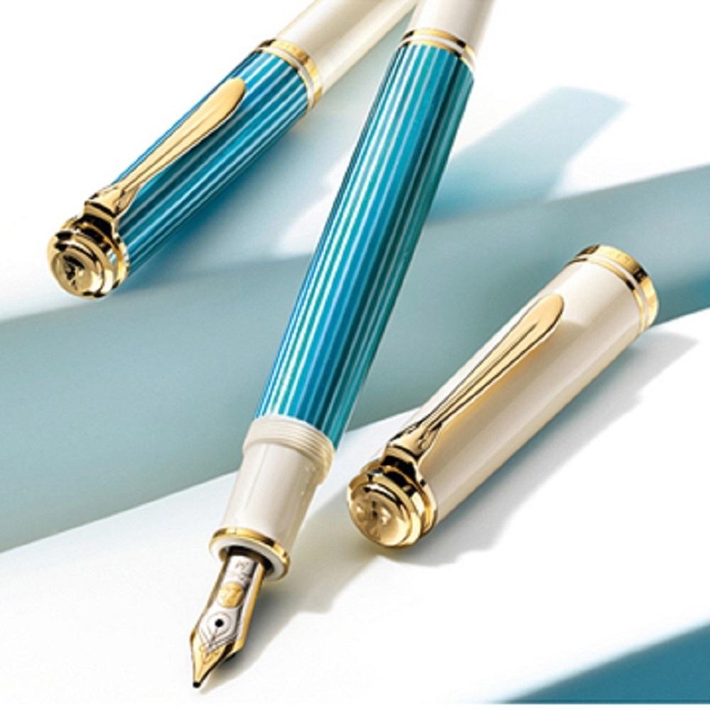 德國PELIKAN百利金 2018限量版土耳其藍14K鋼筆