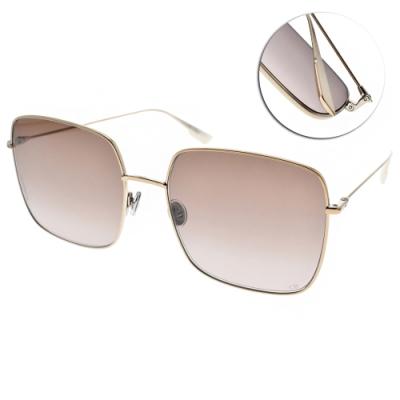 DIOR太陽眼鏡  歐美時尚率性款/金-漸層棕鏡片 #STELLAIRE1 HAM86