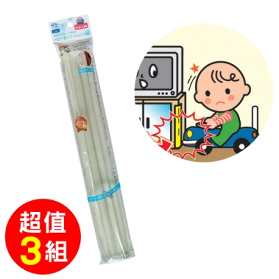 日本CAR-BOY-長條型防護軟墊(小小)2入 透明-3組(防撞/居家安全/桌角/幼兒安全/樂齡)