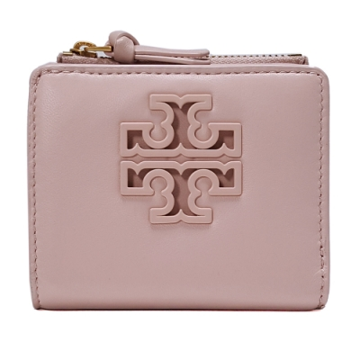 TORY BURCH LILY MINI WALLET羊皮對折短夾-粉色