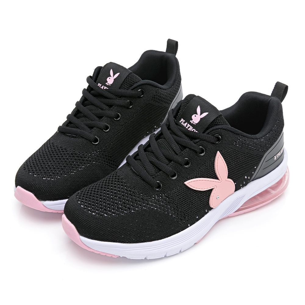 PLAYBOY Candy Bubble Ⅱ 輕量氣墊休閒鞋-黑粉-Y7236C9