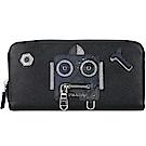 PRADA Saffiano Robot 防刮牛皮機器人拉鍊長夾(黑色)